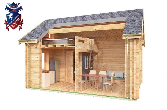 Log Cabin Jevington 4.0m x 5.7m - 616 8
