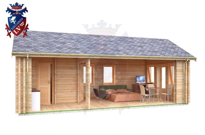 Log Cabin Mount Pleasant 4.0m x 8.0m - 634 6