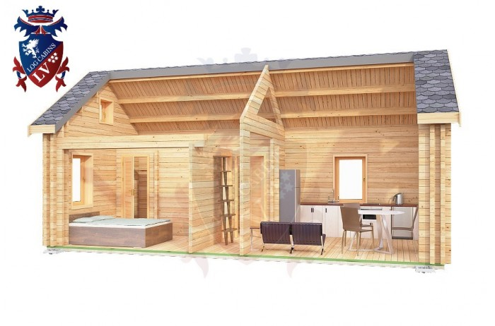 Log Cabin Battle 4.0m x 8.0m - 647 8