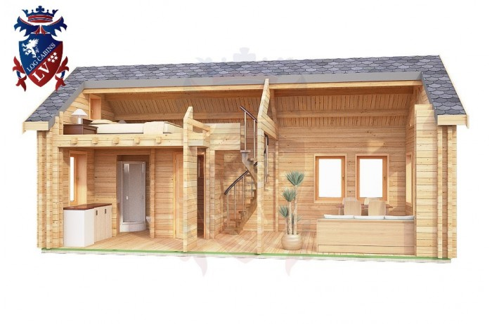 Log Cabin Upperton 4.0m x 8.0m - 651 8