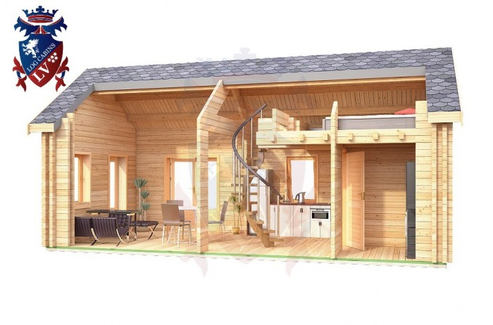 Log Cabin Uckfield 4.0m x 8.0m - 655 7