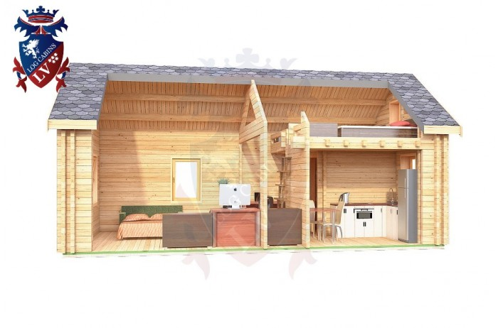 Log Cabin Clive Vale 4.0m x 8.0m - 659 8