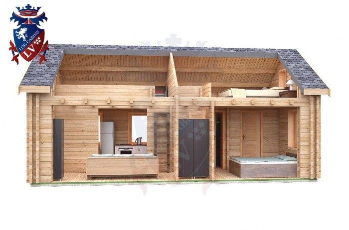 Log Cabin Exceat 4.0m x 8.0m - 667 7