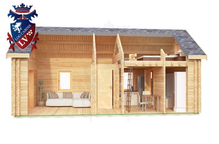 Log Cabin Piddinghoe 4.0m x 8.0m - 662 1