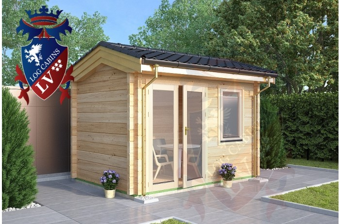 Laminated Log Cabin 3.5m x 2.5m - 767 1