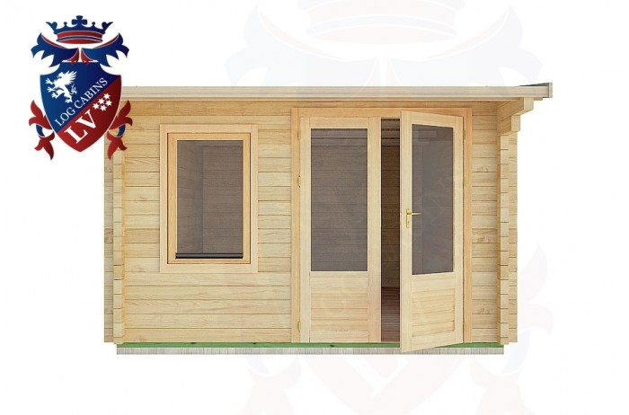 Log Cabins Playden 3.5m x 4.5m - 1 1
