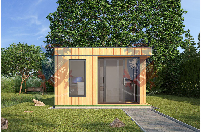 Siberian Larch Clad Fully Insulated  Garden Office Mary (4.0m x 4.0m)