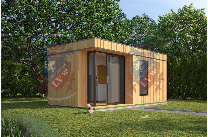 log cabins sussex Siberian Larch Clad Fully Insulated Garden Office Maria Teresa (6.0m x 4.0m) -1