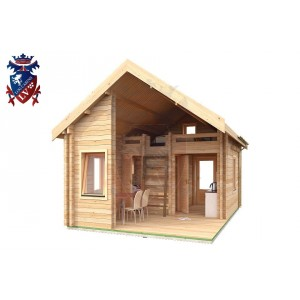 Log Cabin Roselands 4.0m x 5.7m - 609 8
