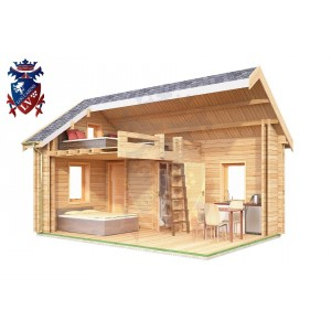 Log Cabin Four Oaks 4.0m x 5.7m - 611 8