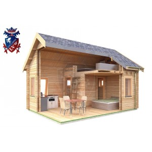 Log Cabin Burwash 4.0m x 5.7m - 618 8