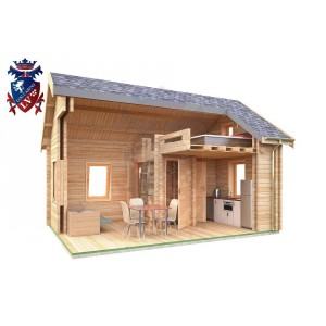 Log Cabin Downside 4.0m x 5.7m - 619 8