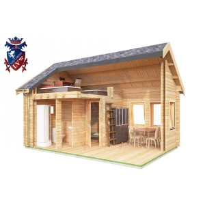 Log Cabin Denton 4.0m x 5.7m - 621 7