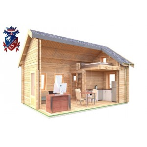 Log Cabin Chiddingly 4.0m x 5.7m - 623 7