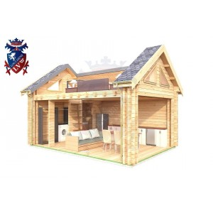 Log Cabin Arlington 4.0m x 5.7m - 624 7