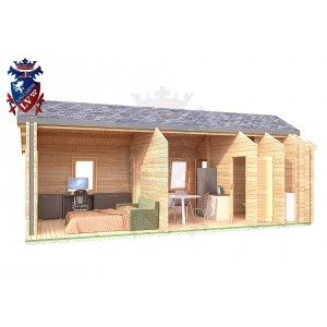 Log Cabin Mill Hill 4.0m x 8.0m - 638 6