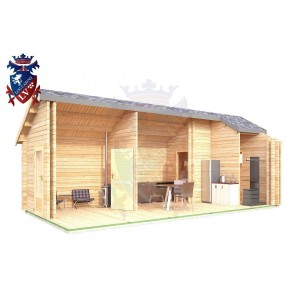 Log Cabin Barcombe 4.0m x 8.0m - 640 6