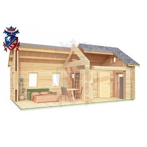 Log Cabin East Dean 4.0m x 8.0m - 643 8