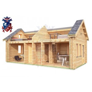 Log Cabin Eastbourne 4.0m x 8.0m - 646 8