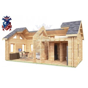 Log Cabin BroaEtchingham 4.0m x 8.0m - 669 7