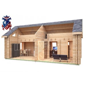 Log Cabin Alfriston 4.0m x 8.0m - 671 8