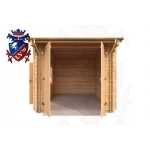 Log Cabins Five Ash Down 2.95m x 5.35m - 044 1