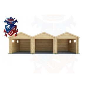 Log Cabins Stone-Cum-Ebony 9.0m x 5.0m - 524 1