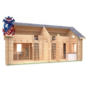 Log Cabin Northiam 4.0m x 8.0m - 663 1
