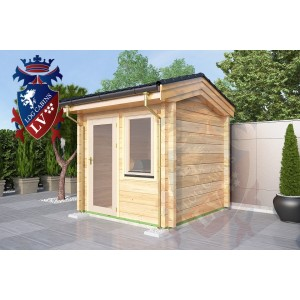 Laminated Log Cabins 2.5 x 2.5 - 763 4