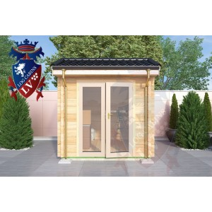Laminated Log Cabins 2.5 x 3.5m - 764 4