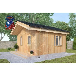 Timber Frame Cabins Ash 4.5m x 4.5m - 712 1