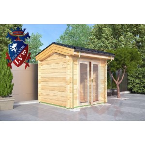 Laminated Log Cabins 2.5 x 2.5 - 762 3