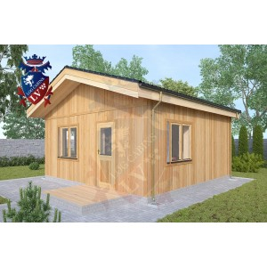 Timber Frame Cabin Bexleyheath 5.5m x 5.5m 3
