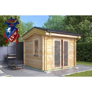 Laminated Log Cabins 3.0m x 3.0m - 766 3