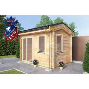 Laminated Log Cabin 3.5m x 2.5m - 767 2