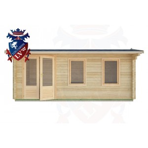 Log Cabins Mill Hill 5.5m x 2.5m - 27 1