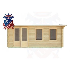 Log Cabins Rye Harbour 5.5m x 4.5m - 2 1