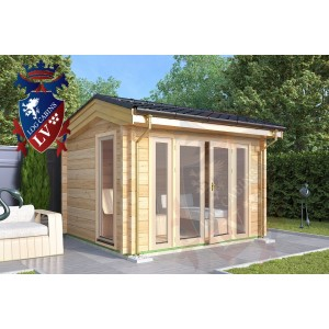 Laminated Log Cabins Elmley 3.5m x 3.0m - 769 2