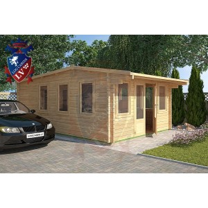 Log Cabins Iden KL 4m x 5.8m - 120 4
