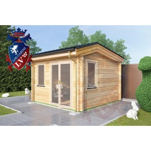 Laminated Log Cabins 3.5m x 3.5m - 770 1
