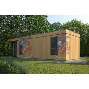 Siberian Larch Clad Fully Insulated  Garden Office Barbara 10.0m x 4.0m-3
