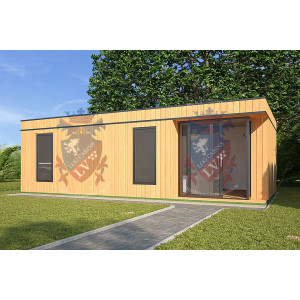 Log Cabins Sussex Siberian Larch Clad Fully Insulated Garden Office Eleanor 8.0m x 4.0m-2