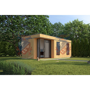 Siberian Larch Clad Fully Insulated Garden Office Anne (6.0m x 4.0m)