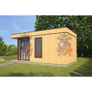 log cabins sussex Siberian Larch Clad Fully Insulated Garden Office Maria Teresa (6.0m x 4.0m) -2