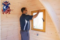 Log Cabin Camping Pod Extension 30