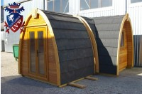 Log Cabin Camping Pod Extension 7
