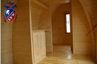 Log Cabin Camping Pod Extension 38