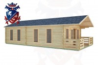 Log Cabins Coombes 5.0m x 9.0m -2100 2