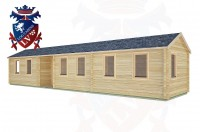 Log Cabins Poynings 13.0m x 3.0m -2135 3