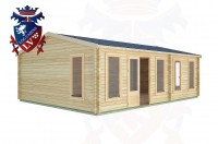 Log Cabins Birdham 7.5m x 5.5m -2122 3
